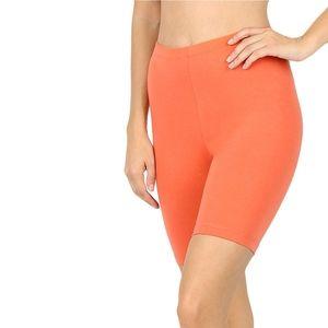 Zenana Premium Peach Bike Shorts - Size XL